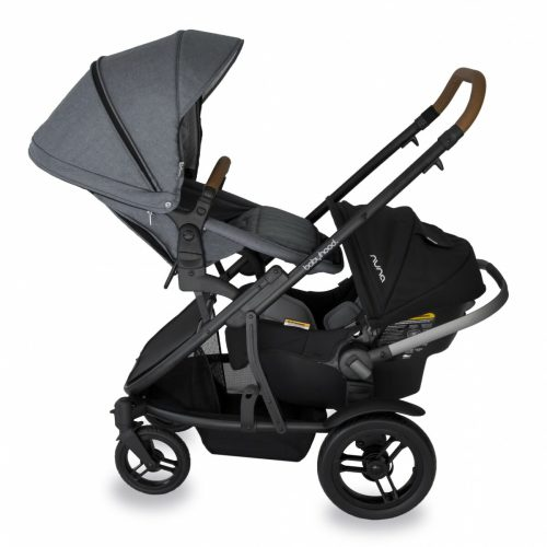 Babyhood Doppio Nero Double Backward Seat Capsule Grey