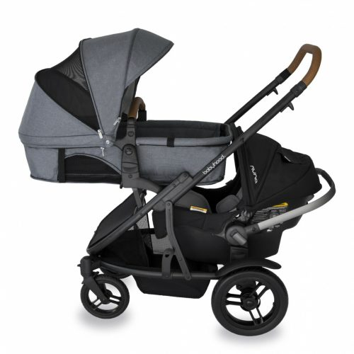 Babyhood Doppio Nero Double Bassinet Capsule Grey