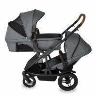 Babyhood Doppio Nero Double Bassinet Seat Grey