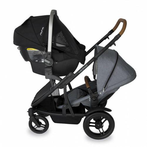 Babyhood Doppio Nero Double Capsule Forward Seat Grey