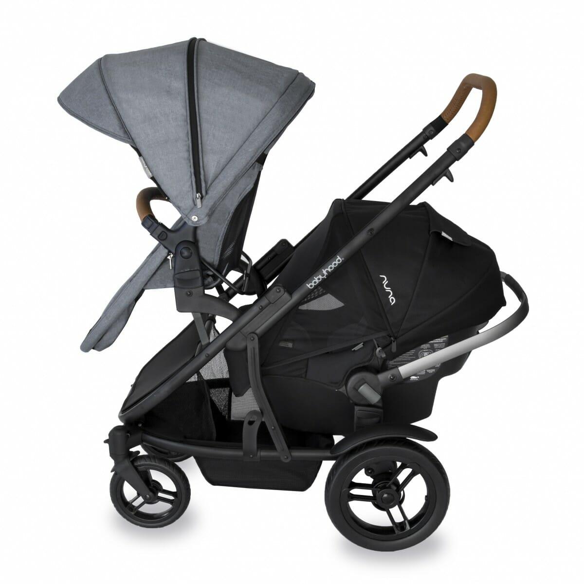 Babyhood Doppio Nero Double Forward Seat Capsule Grey