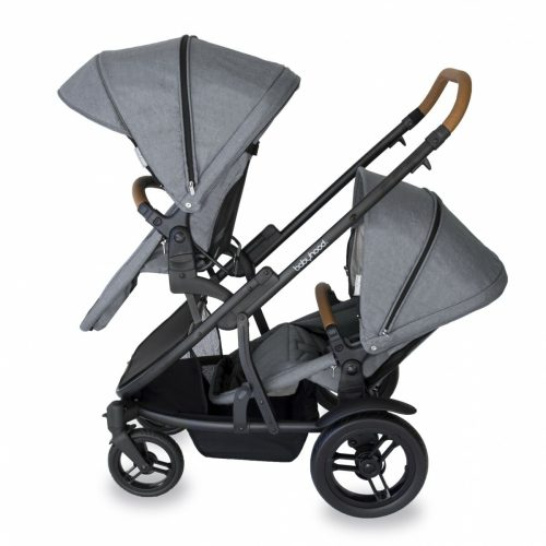 Babyhood Doppio Nero Double Forward Seats Grey