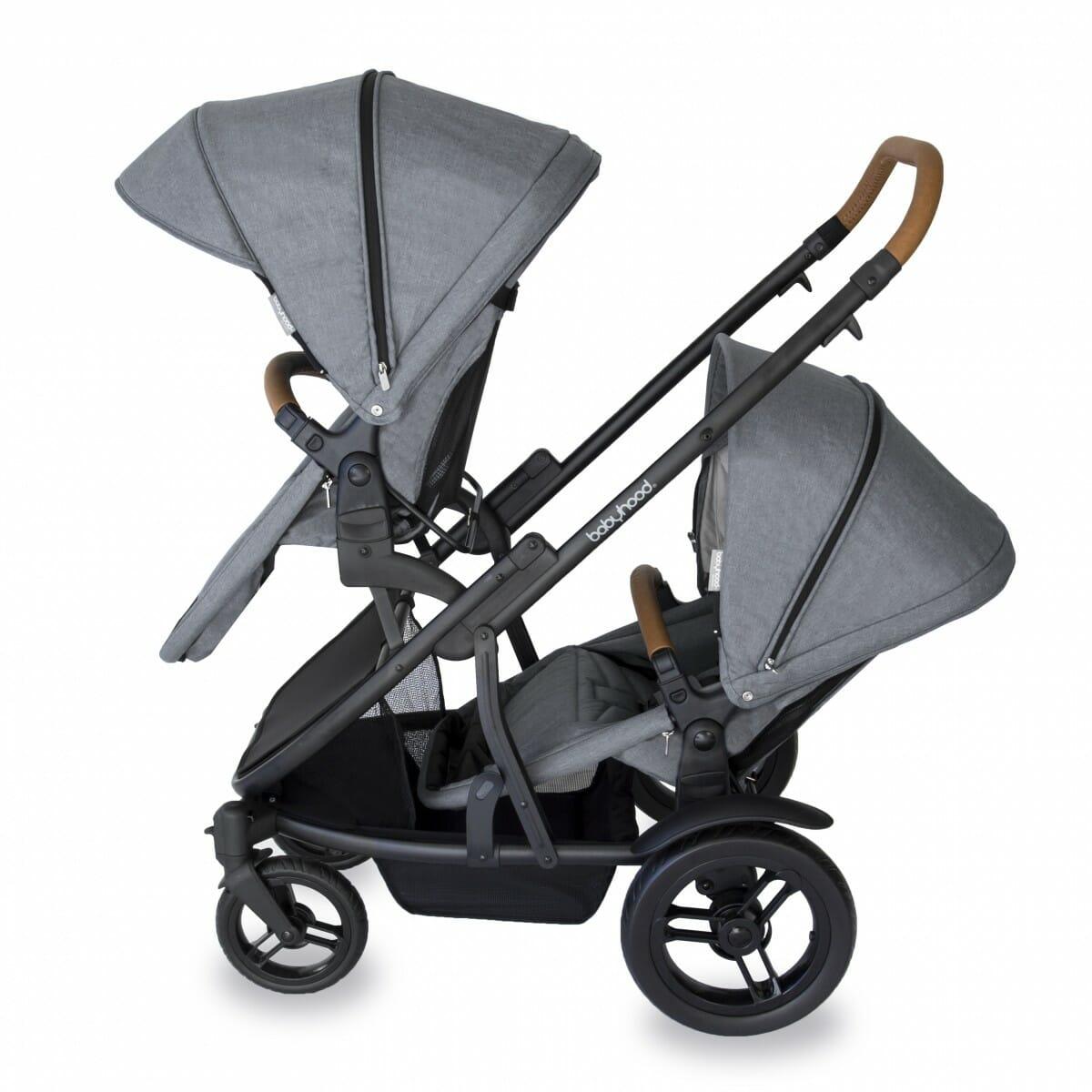 Babyhood Doppio Nero Double Forward Seats Grey