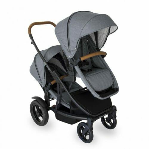 Babyhood Doppio Nero Hero Double Seat Forward Grey