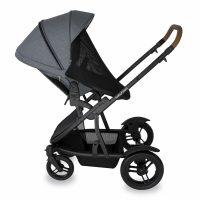 Babyhood Doppio Nero Single Backwards Seat Net Grey