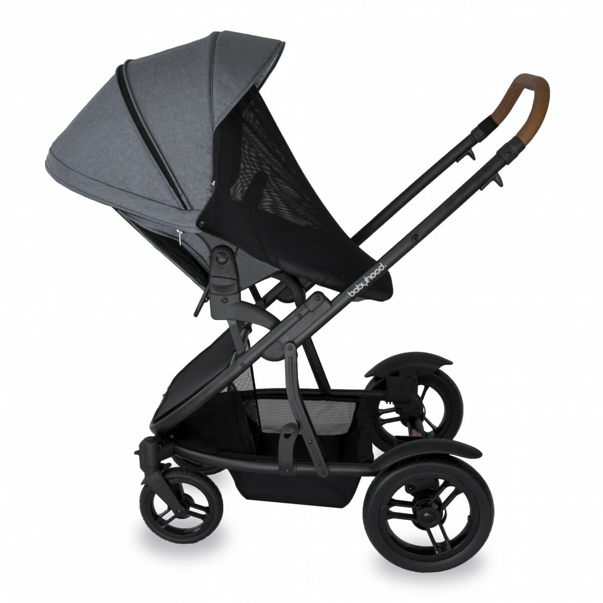 Babyhood Doppio Nero Single Backwards Seat Net Grey