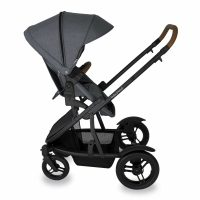 Babyhood Doppio Nero Single Backwards Seat1 Grey