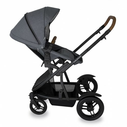 Babyhood Doppio Nero Single Backwards Seat2 Grey