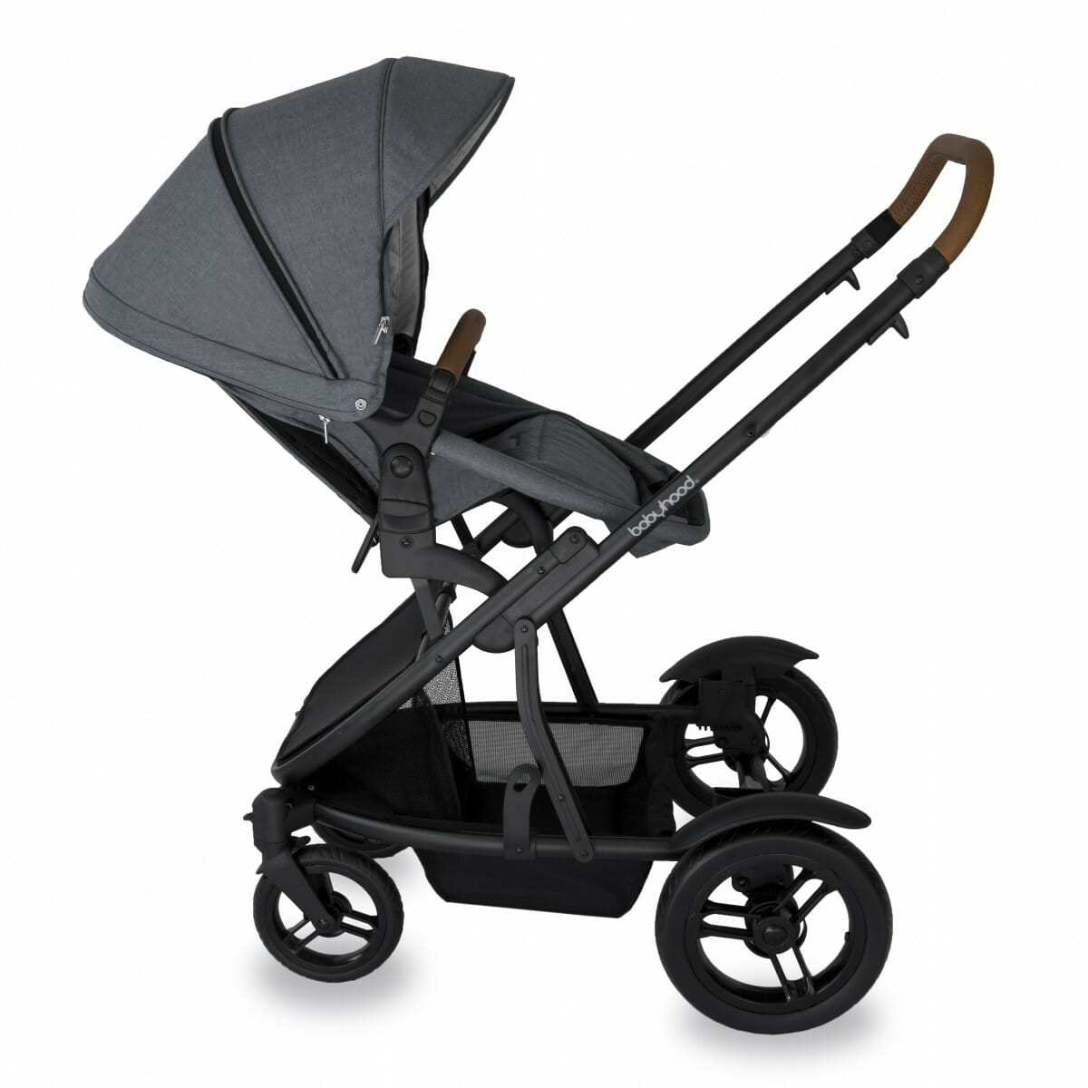 Babyhood Doppio Nero Single Backwards Seat2 Grey