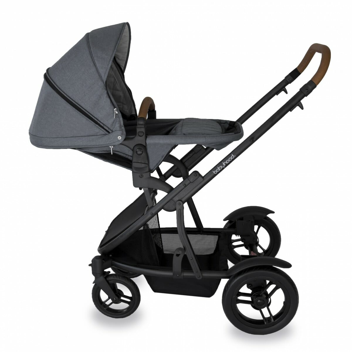 Babyhood Doppio Nero Single Backwards Seat3 Grey