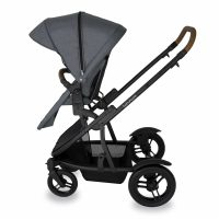 Babyhood Doppio Nero Single Forward Seat Grey