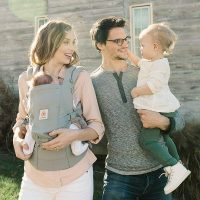 Ergobaby ADAPT Baby Carrier Pearl Grey lifestyle