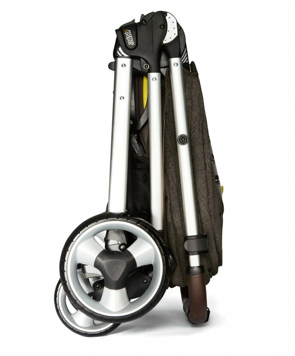 Mamas and Papas Armadillo XT Stroller Khaki Folded