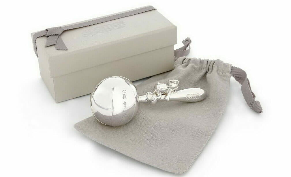 mamas and papas Silver Plated Rattle