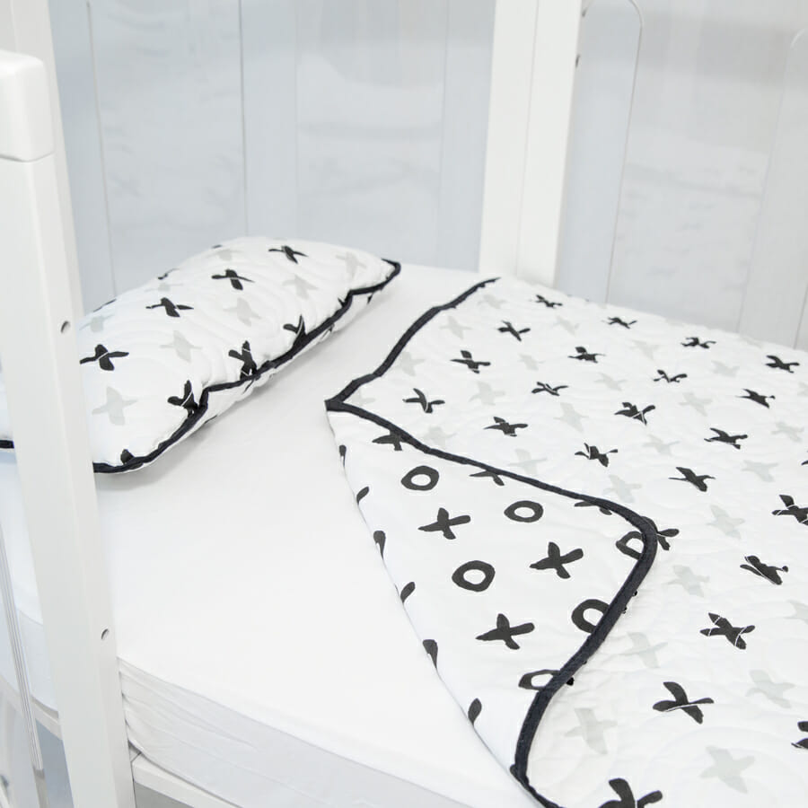 Amani Bebe Kaylula Tic Tac Toe Quilt Pillow angle