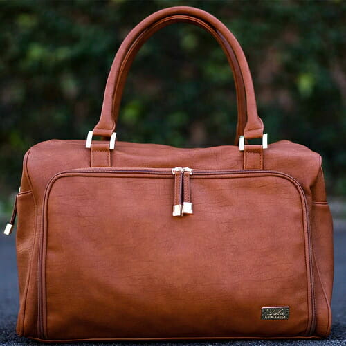 Isoki Double Zip Satchel Amber Lifestyle
