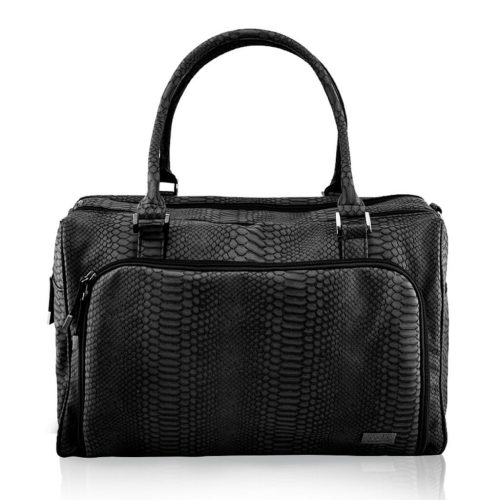 Isoki Double Zip Satchel Black Mumba Front