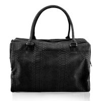 Isoki Double Zip Satchel Black Mumba Rear