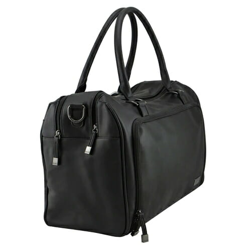 Isoki Double Zip Satchel Onyx Angle