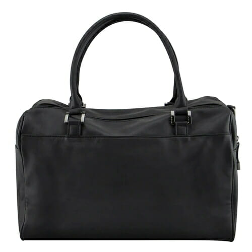 Isoki Double Zip Satchel Onyx Rear