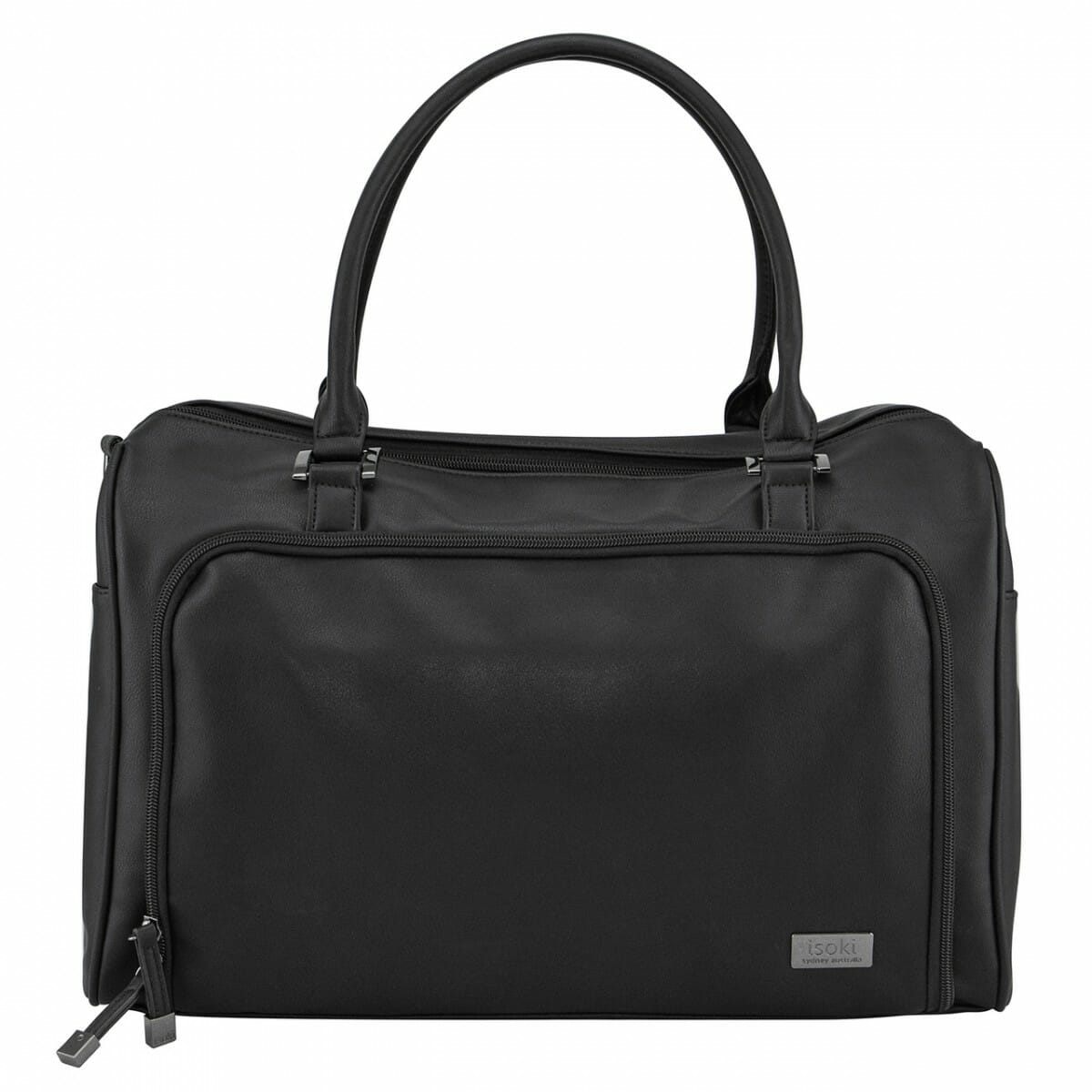 Isoki Double Zip Satchel Onyx