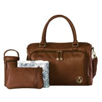 Isoki Double Zip Satchel Redwood Complete