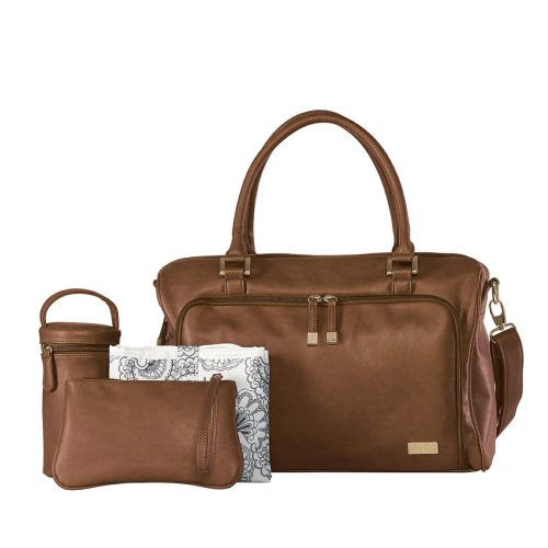 Isoki Double Zip Satchel Redwood set