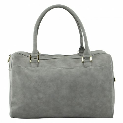 Isoki Double Zip Satchel Stone Rear