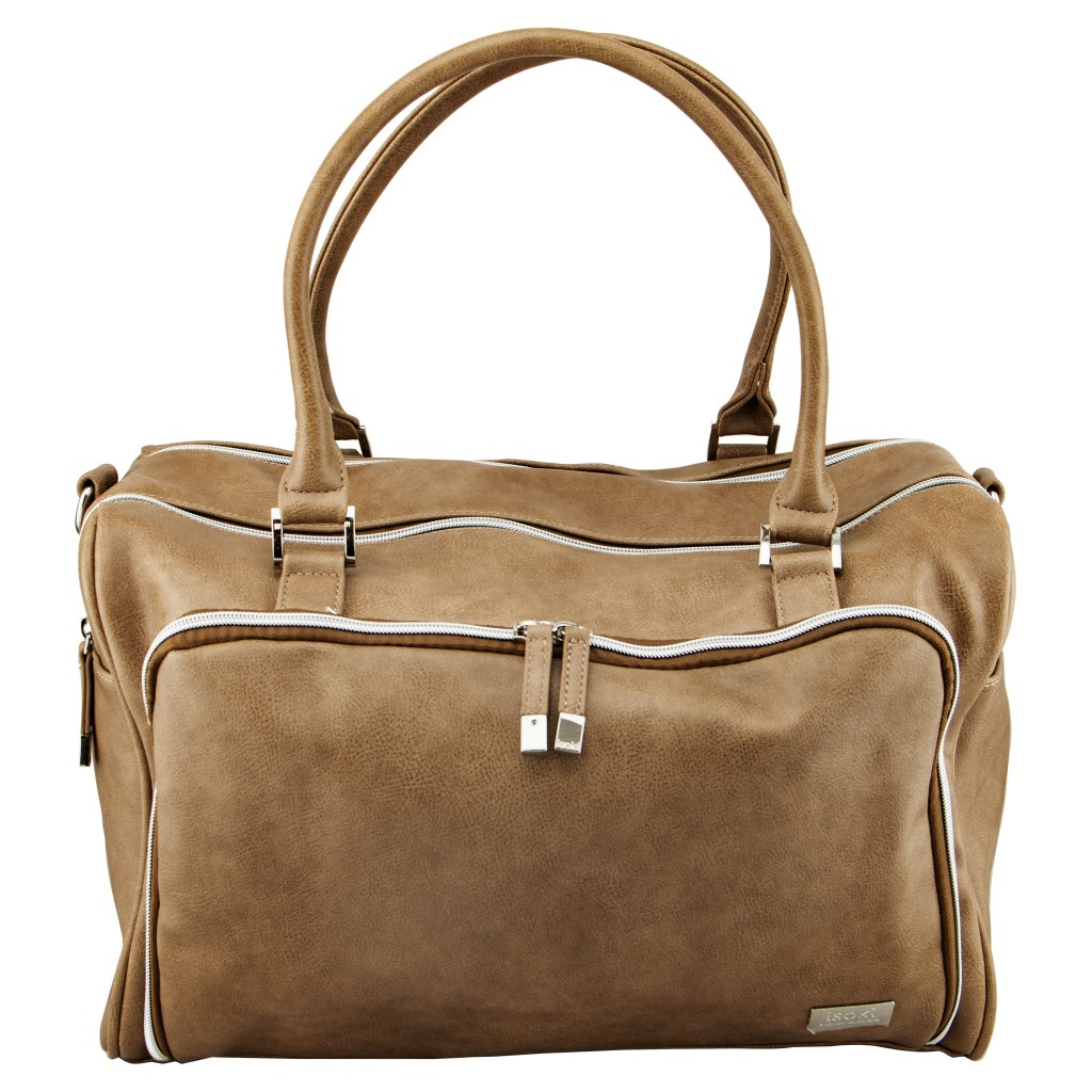 Double Zip Satchel Latte 01