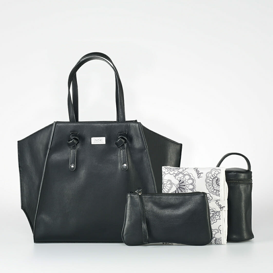 Isoki Easy Access Tote - Toorak with accessories
