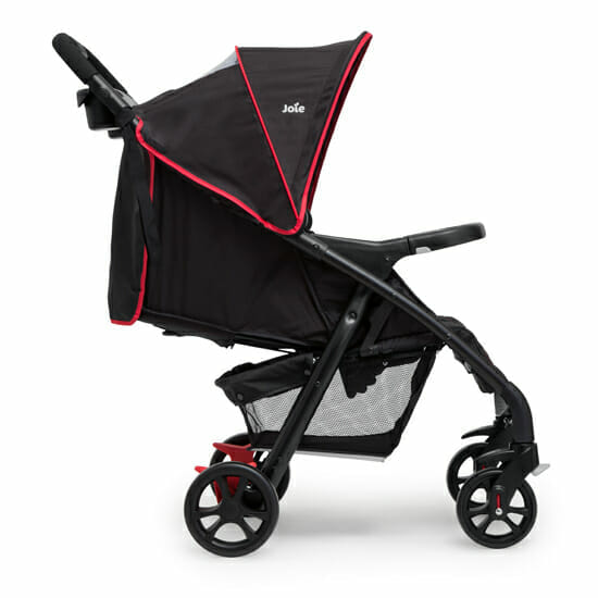 Joie Muze Travel System Poppy Red Stroller Side