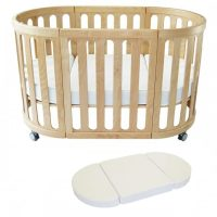 Kaylula Sova Classic Cot Beech Cot and mattress