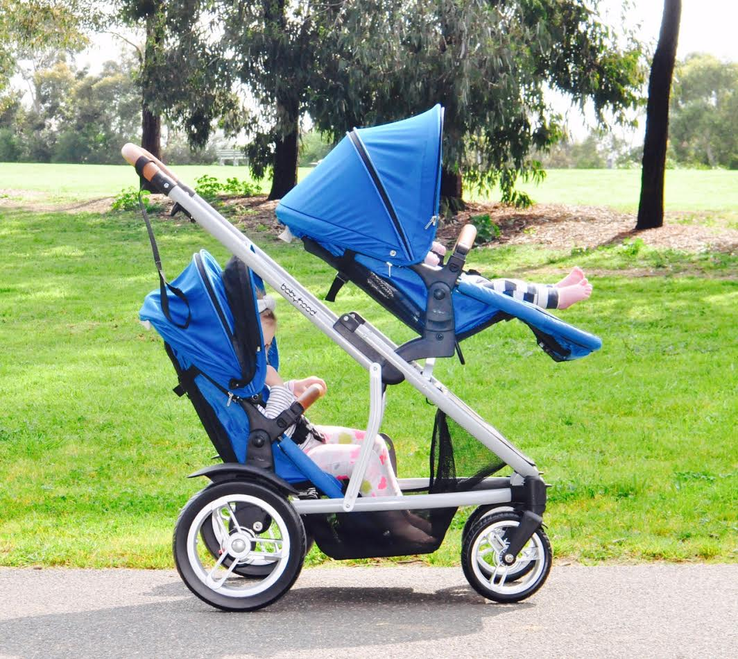 babyhood Doppio Twin Pram with 2 Seats