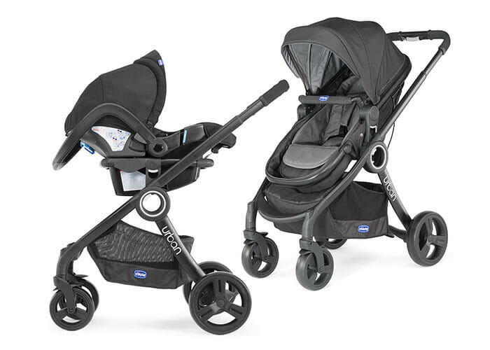 Chicco Urban Plus Anthracite Travel System Capable