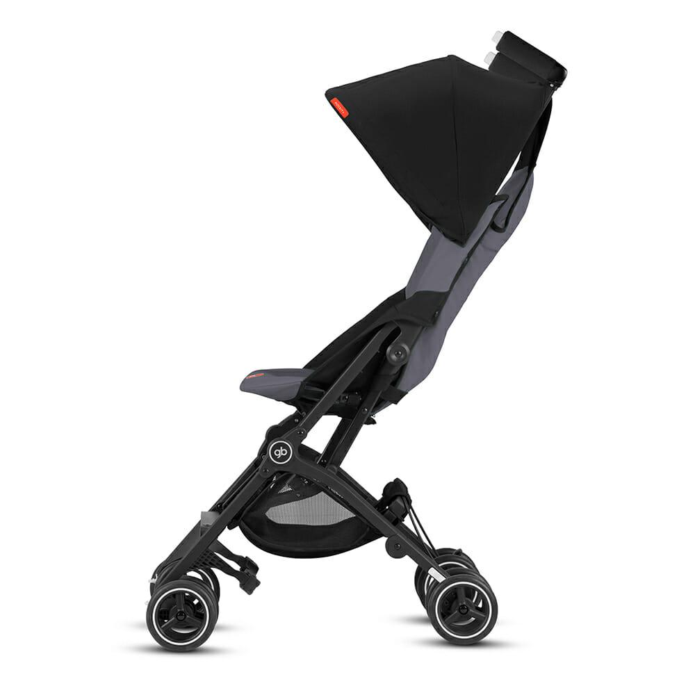 Gb Pockit+ Stroller – Silver Fox Grey Side