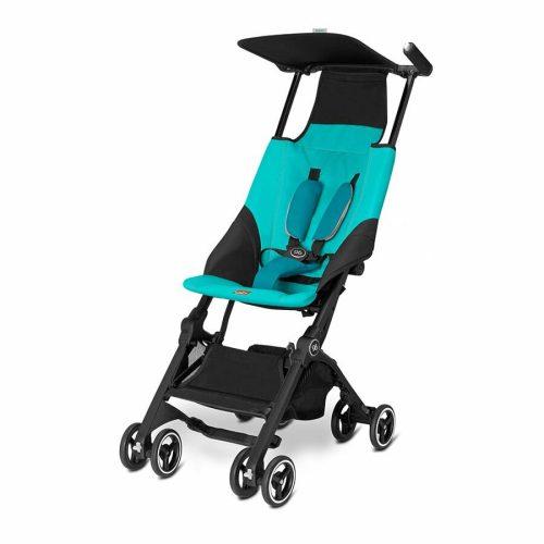 GB Pockit Compact Stroller Capri Blue Angle