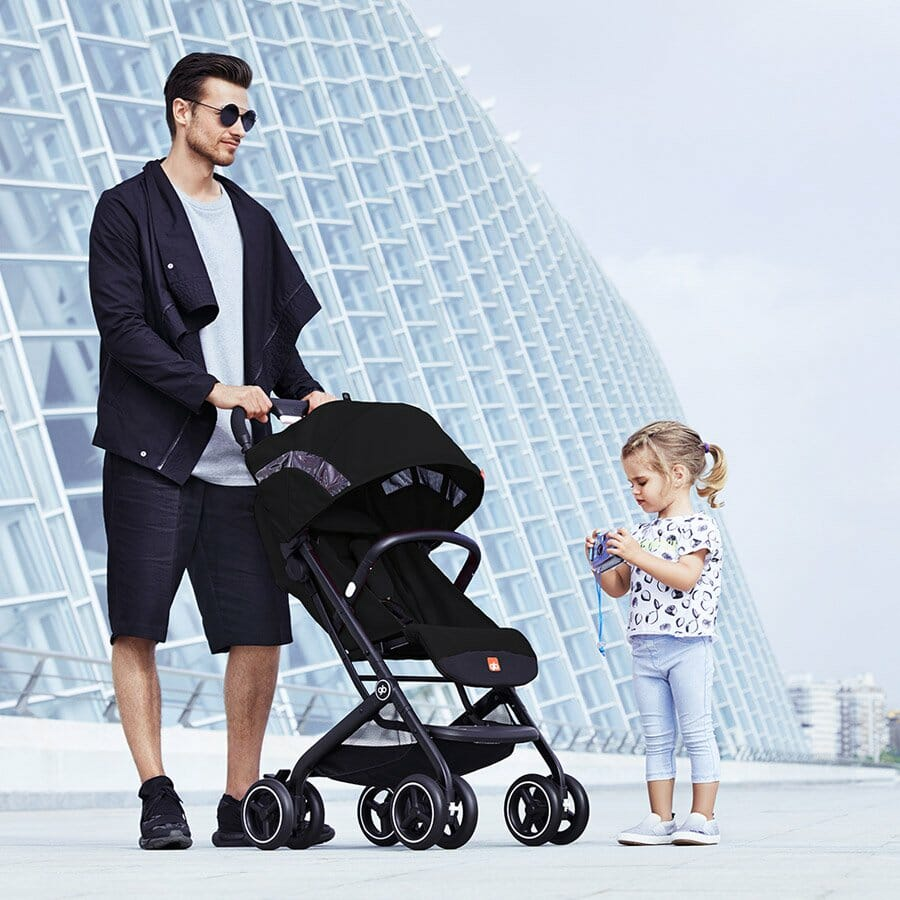 Gb Qbit+ Stroller Lifestyle Satin Black