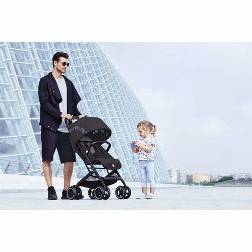 Goodbaby Qbit+ Stroller Lifestyle Silver Fox Grey