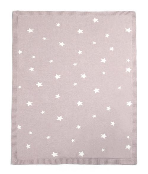 Mamas And Papas Millie And Boris Knitted Blanket Rose Star
