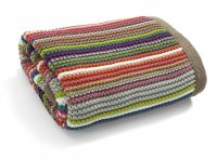 Mamas and Papas Timbuktales Striped Knitted Blanket Folded