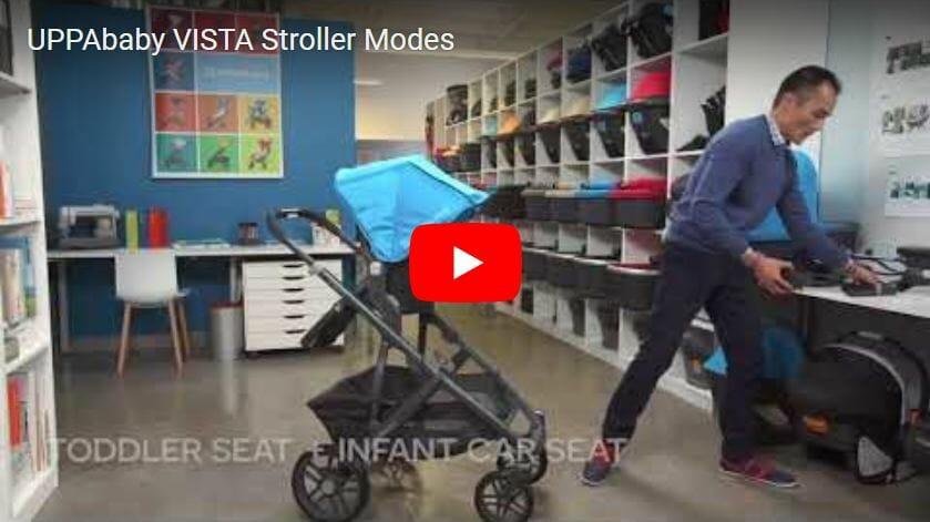 Uppababy Vista Stroller Modes