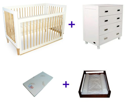 Babyhood Riya Cot Package Deal 4 Pce With Dresser No Text