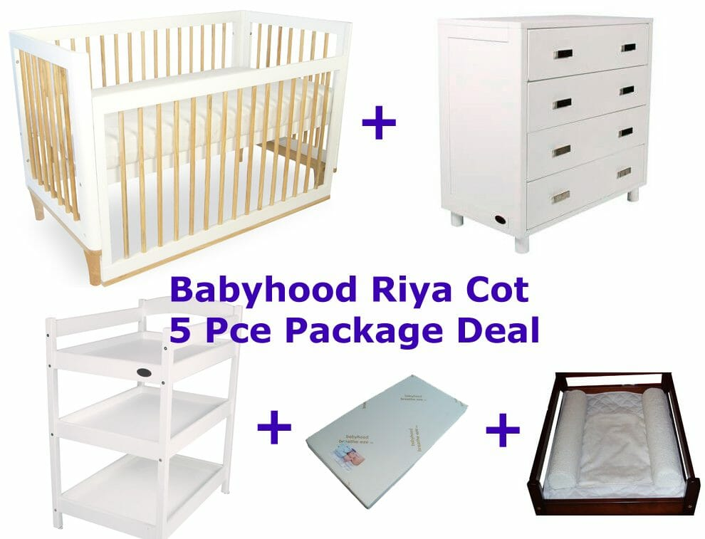 babyhood Riya cot package deal 5 pce