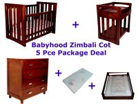 Babyhood Zimbali Cot Package Deal 5 Pce