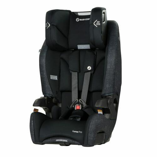 Maxi Cosi Luna Pro Headrest Up Nomad Black Angle
