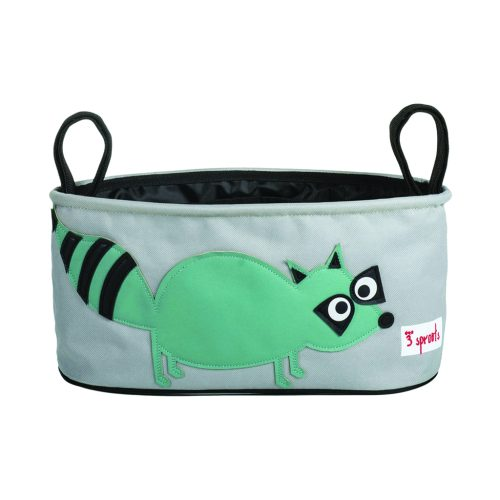 3 Sprouts Stroller Organiser racoon