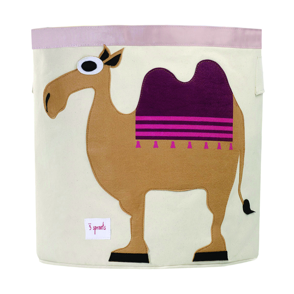 3 Sprouts Storage Bin camel