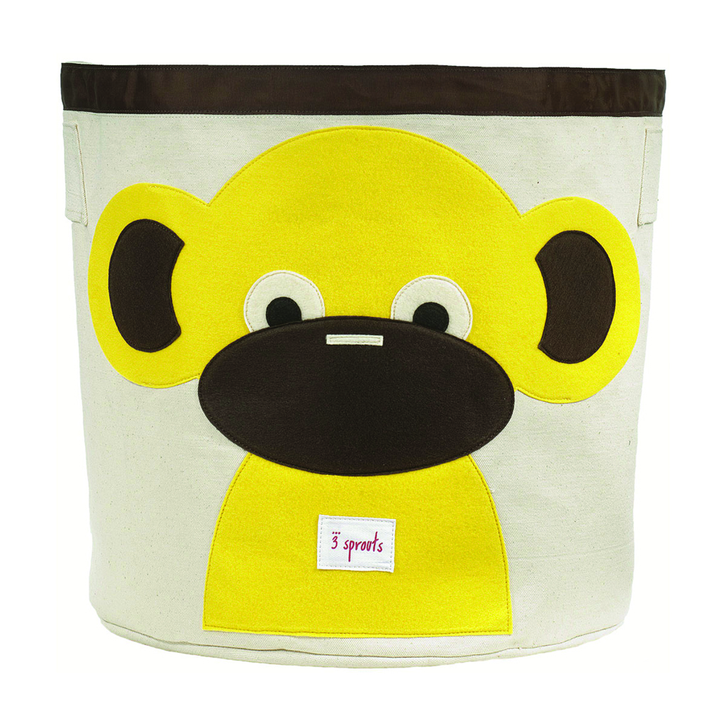 3 Sprouts Storage Bin yellow monkey