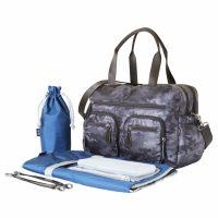OiOi Charcoal Camo Carry All Nappy Bag