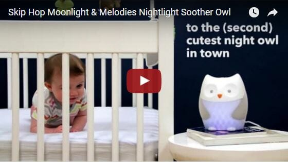 Skip Hop Moonlight & Melodies Nightlight Soother - Owl Video